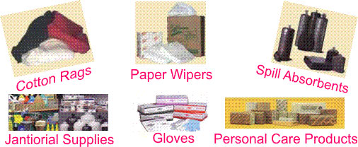 Cloth Wipers, Paper Wipers, Absorbents